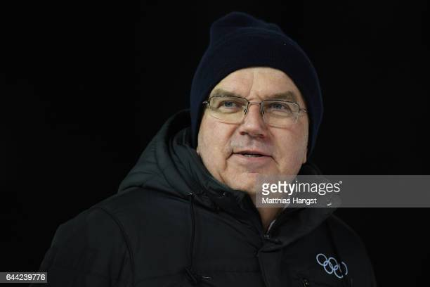 President Thomas Bach attends the Cross Country Sprint finals during the FIS Nordic World Ski Championships on February 23 2017 in Lahti Finland