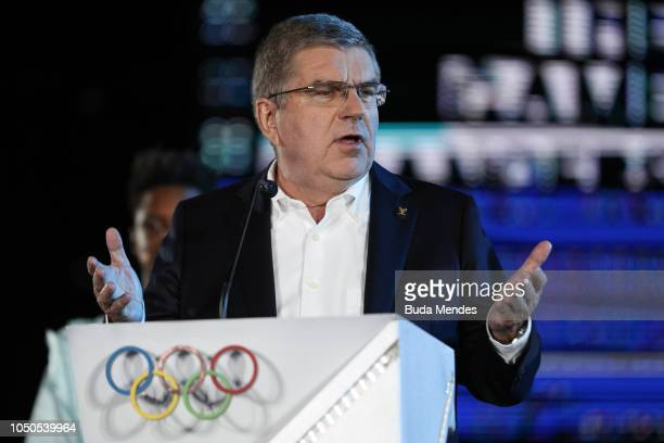 President Thomas Bach during the opening ceremony of the Buenos Aires 2018 Youth Olympic Games at Obelisco monument on October 06 2018 in Buenos...