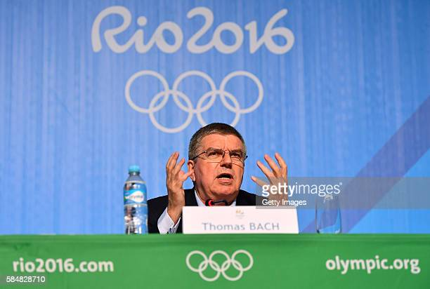President Thomas Bach speaks during a Press Conference on July 31 2016 in Rio de Janeiro Brazil
