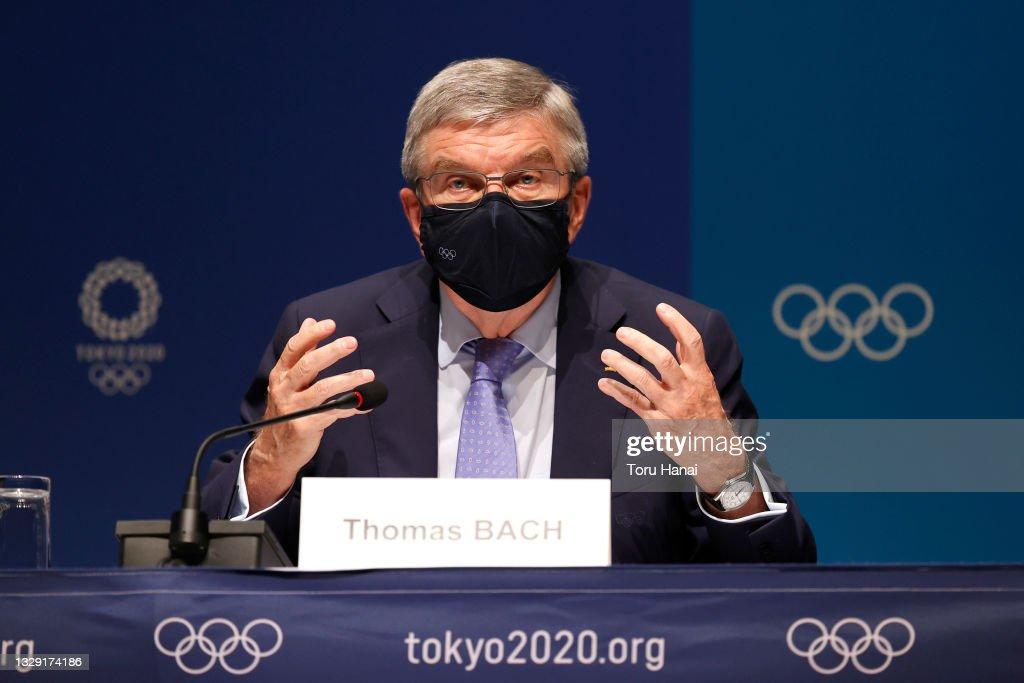 IOC President Thomas Bach Press Conference : News Photo