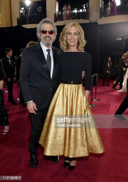 President Thomas Schlamme and Christine Lahti attend the 91st Annual Academy Awards at Hollywood and Highland on February 24 2019 in Hollywood...