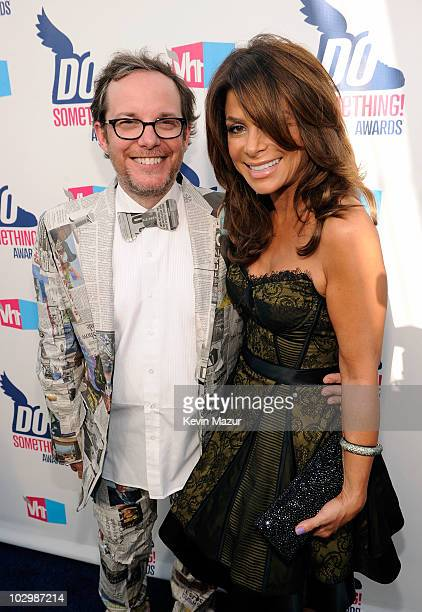 President Tom Calderone and singer Paula Abdul arrive at the 2010 VH1 Do Something! Awards held at the Hollywood Palladium on July 19, 2010 in...