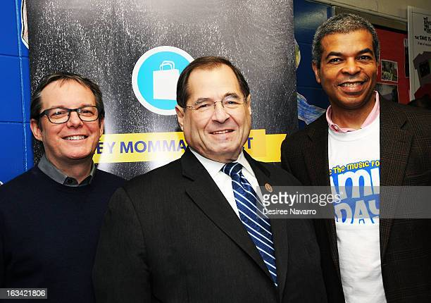 VH1 President Tom Calderone Congressman Jerrold Jerry Nadler and VH1 Executive Director Paul Cothran attend 'The VH1 Save The Music Foundation Family...