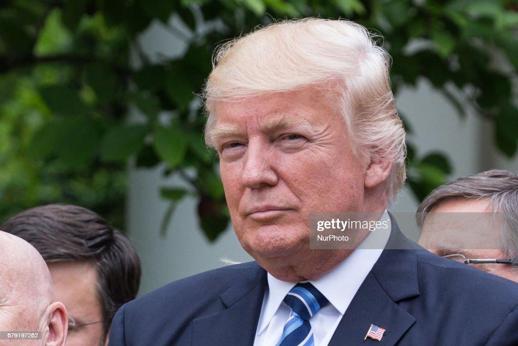 President Trump Healthcare Press Conference : News Photo