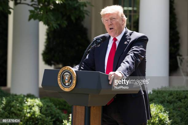 President Trump made the statement that the United States is withdrawing from the Paris Climate Accord in the Rose Garden of the White House On...