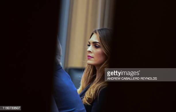 President Trump's former White House Communications Director Hope Hicks sits for a closed door meeting with the House Judiciary Committee in relation...