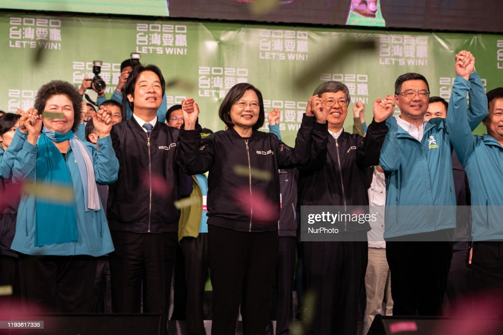 Democratic Progressive Party Celebration In Taipei : ニュース写真