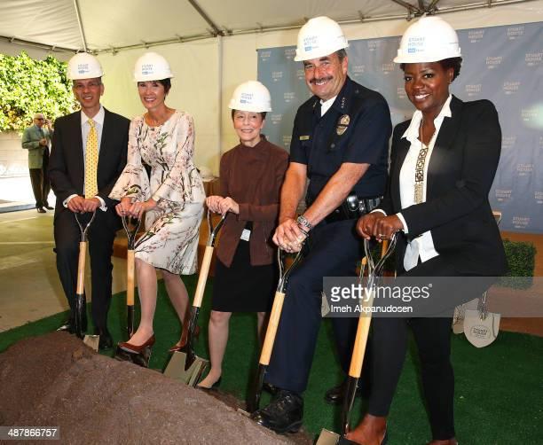 President UCLA Health David Feinberg Cheryl Saban Gail Abarbanel LAPD Police Chief Charlie Beck and actress Viola Davis attend The Rape Foundation's...