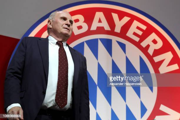 President Uli Hoeness looks on during the FC Bayern Muenchen Annual General Assembly at AudiDome on November 30 2018 in Munich Germany