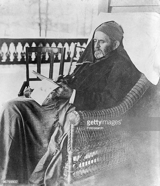 President Ulysses S Grant writing his memoirs at Mt McGregor June 27 1885
