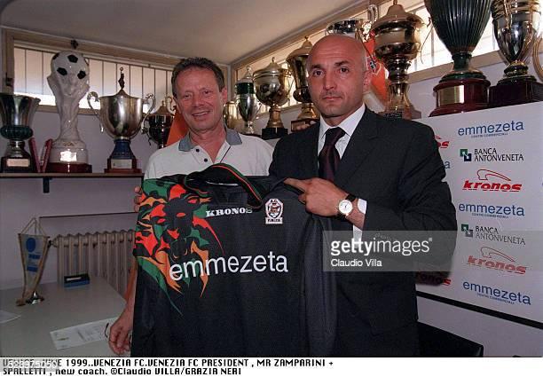 President Venezia FC Maurizio Zamparini and head coach Venezia FC Luciano Spalletti during a press conference, Venice.