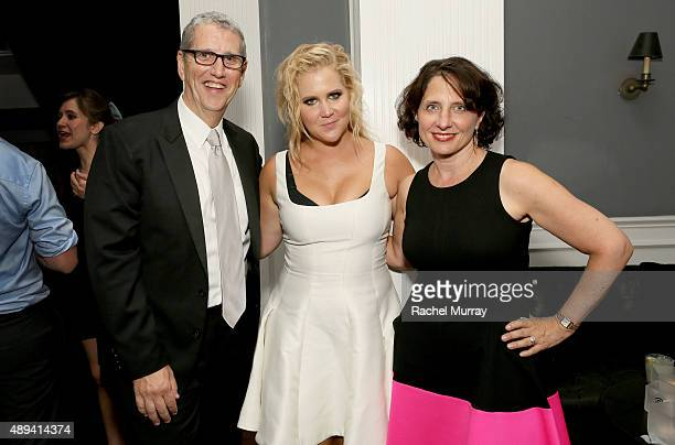 President Viacom Music Entertainment Group Doug Herzog actress Amy Schumer and President of Comedy Central Michele Ganeless attend the Comedy Central...
