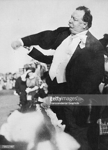 C APRIL 1910 President William Howard Taft throws out the first ball ever to open the 1911 baseball season in April in Washington DC