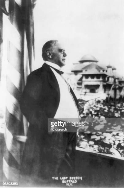 President William McKinley giving a speech circa 1890s