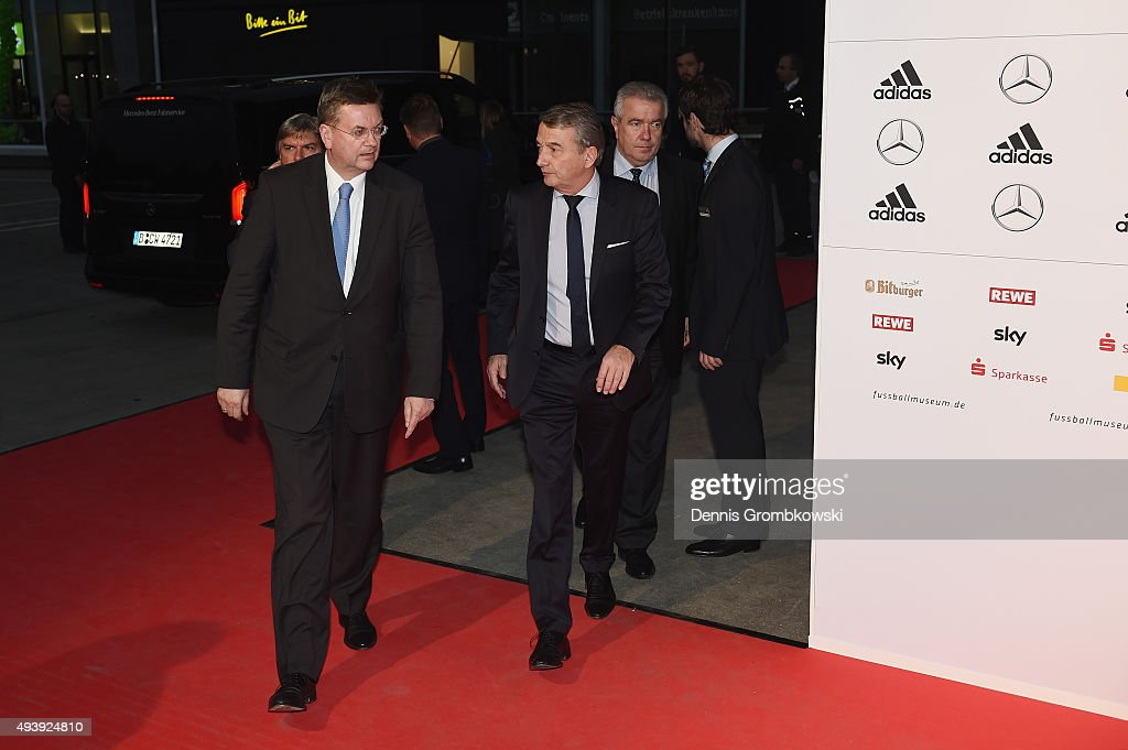 President Wolfgang Niersbach arrives for the Opening Gala of the German Football Museum on October 23, 2015 in Dortmund, Germany.