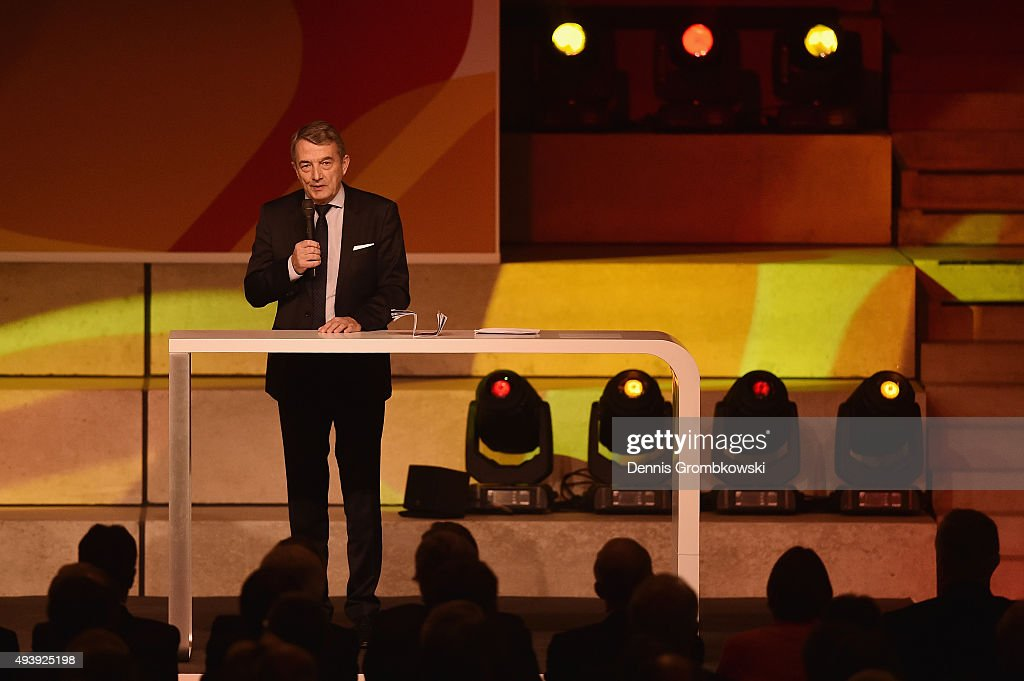 President Wolfgang Niersbach holds a speach during the Opening Gala of the German Football Museum on October 23, 2015 in Dortmund, Germany.