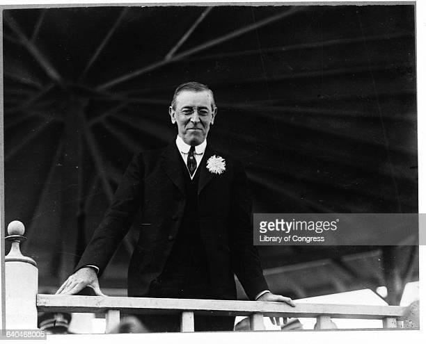 President Woodrow Wilson Leaning from Gazebo