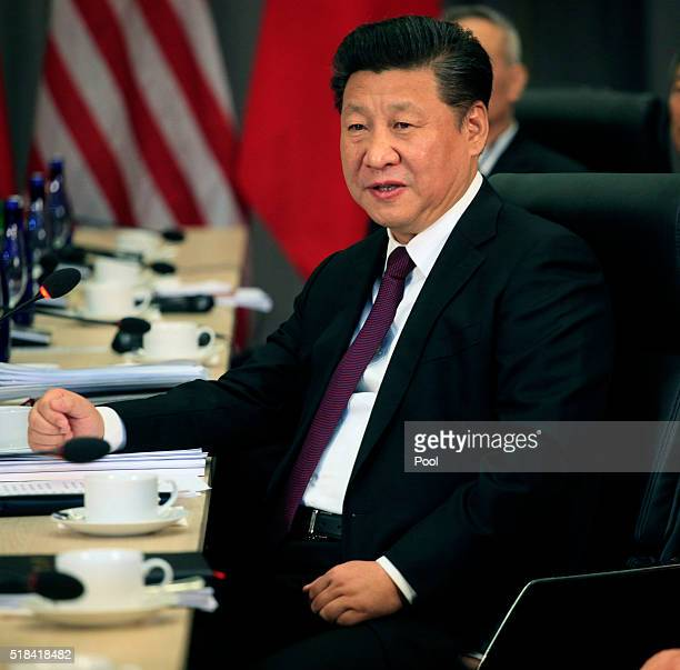 President Xi Jinping of China attends a bilateral meeting with President Barack Obama at the Nuclear Security Summit March 31, 2016 in Washington,...