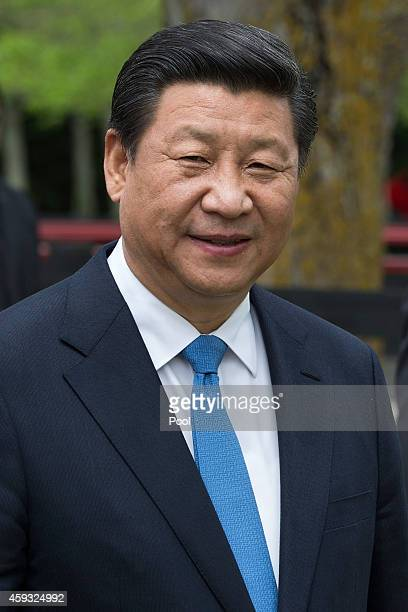 President Xi Jinping of China attends a Karaka Agitech event on November 21 2014 in Auckland New Zealand President Xi Jinping is on a two day trip to...
