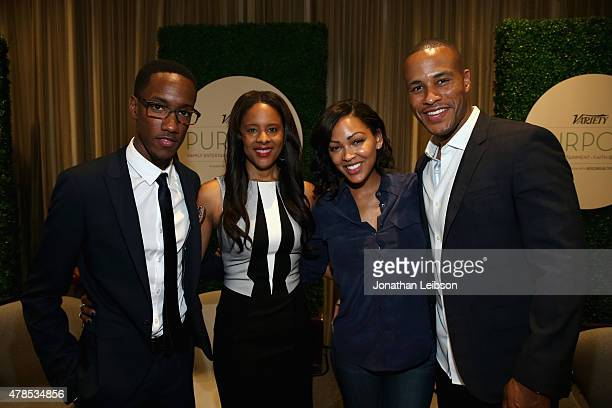 President/CEO L Plummer Media Lemuel O Plummer SVP Current Programs CW Traci Blackwell actress Meagan Good and producer DeVon Franklin attend The...