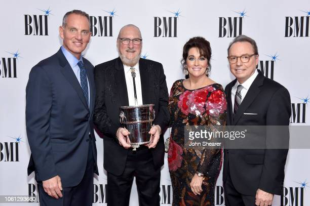 BMI President/CEO Mike O'Neill Steven Cropper Angel Cropper and BMI Vice President Creative Jody Williams attend the BMI Country Awards 2018 at BMI...