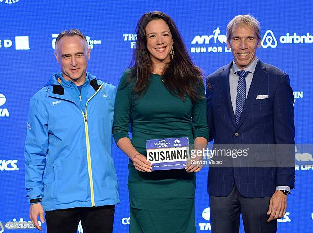 President/CEO, New York Road Runners Michael Capiraso, The Metropolitan Opera's soprano Susanna Phillips and President of Events, New York Road...