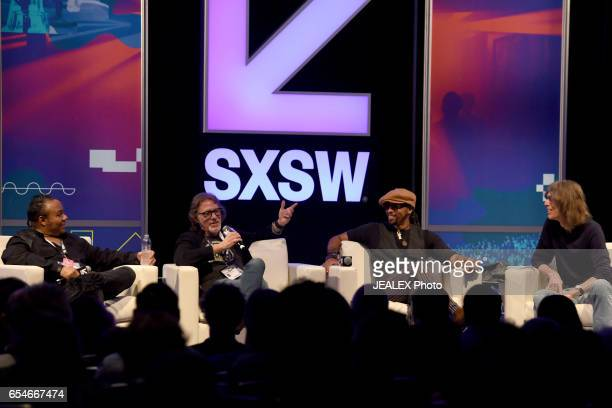 President/CEO of Pavillion Entertainment Dez Dickerson Artist manager Owen Husney musician Andre Cymone and Sr writer of Rolling Stone Magazine David...