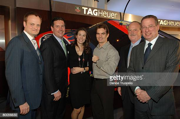 President/CEO of Tag Heuer Ulrich Wohm Executive VP of Sales Ed Trask Vice President of Marketing Tag Heuer Jenna Fagnan NASCAR champion and TAG...