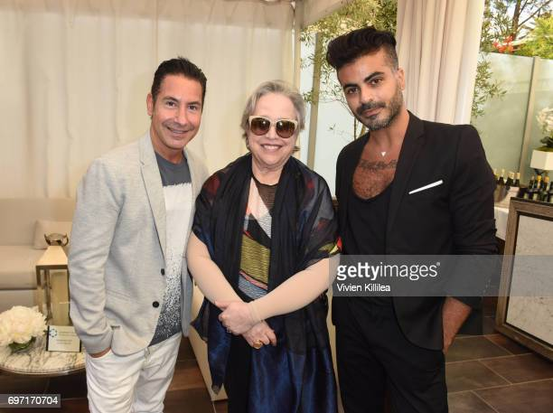 President/CEO of The Krim Group Todd Krim Kathy Bates and Shlomi Hillel Krim attend Academy Award Winner and LERN Spokesperson Kathy Bates Hosts...