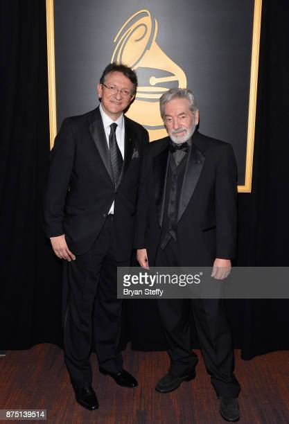 President/CEO of The Latin Recording Academy Gabriel Abaroa and Cesar Camargo Mariano attend the Premiere Ceremony during the 18th Annual Latin...