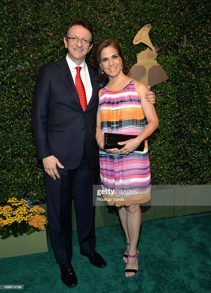 President/CEO of The Latin Recording Academy Gabriel Abaroa Jr. (L) and Lorenza Abaroa attend the 15th annual Latin GRAMMY Awards at the MGM Grand Garden Arena on November 20, 2014 in Las Vegas, Nevada.