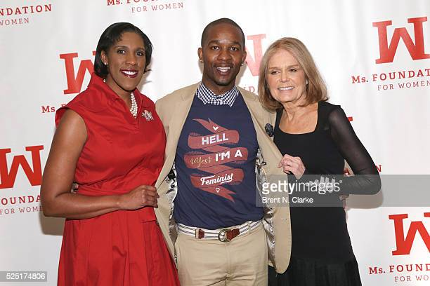 President/CEO of the Ms Foundation for Women Teresa C Younger retired professional football player Wade Davis and feminist/political activist Gloria...