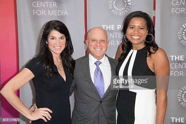 President/CEO of the Paley Center for Media CEO Starz Chris Albrecht and Creator Showrunner Executive Producer Courtney A Kemp attend the Paley...