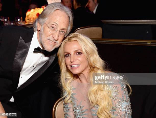 President/CEO of The Recording Academy and GRAMMY Foundation President/CEO Neil Portnow and recording artist Britney Spears attend PreGRAMMY Gala and...