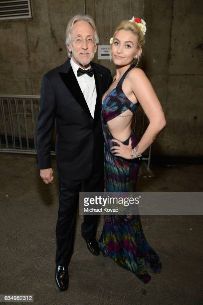 President/CEO of The Recording Academy and GRAMMY Foundation President/CEO Neil Portnow and Paris Jackson attends The 59th GRAMMY Awards at STAPLES...