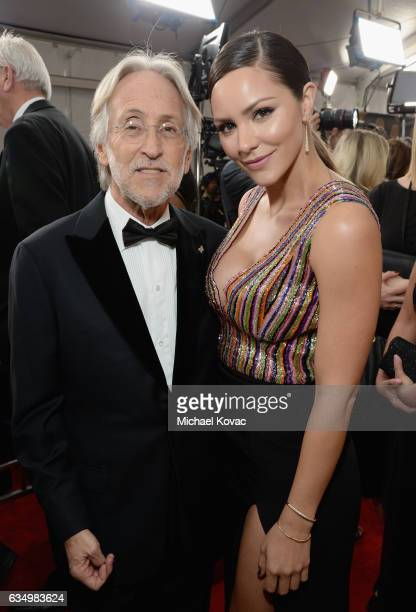 President/CEO of The Recording Academy and GRAMMY Foundation President/CEO Neil Portnow and recording artist Katherine McPhee attend The 59th GRAMMY...