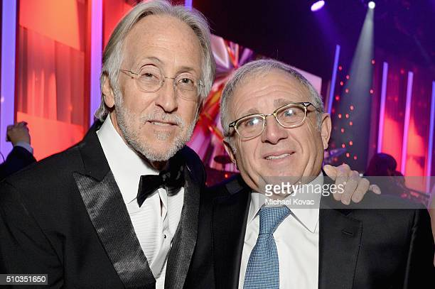 President/CEO of The Recording Academy Neil Portnow and honoree Irving Azoff attend the 2016 PreGRAMMY Gala and Salute to Industry Icons honoring...