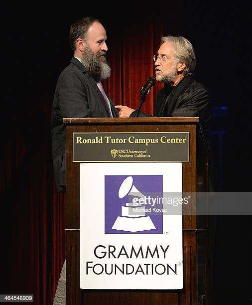 President/CEO of The Recording Academy Neil Portnow honors the Inaugural Grammy Music Educator Award recipient Kent Knappenberger at GRAMMY In The...