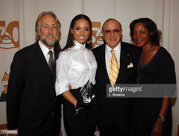 NEW YORK SEPTEMBER 26 President/CEO of The Recording Academy Neil Portnow Musician Alicia Keys Chairman CEO of BMG Label Group Clive Davis and...