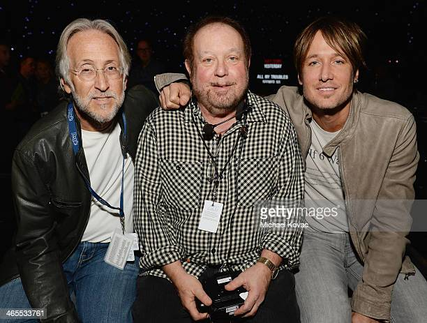 President/CEO of The Recording Academy Neil Portnow producer Ken Ehrlich and musician Keith Urban attend The Night That Changed America A GRAMMY...