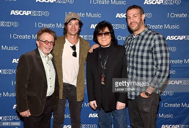 ASCAP President/Chairman Paul Williams singersongwriter Nate Ruess ASCAP Membership EVP John Titta and ASCAP Sr Director Pop/Rock Membership Jason...
