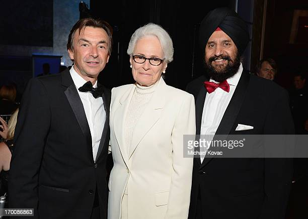 President/COO of Sony Electronics Phil Molyneux AFI CEO Jean Firstenberg and Satjiv Cahil attend 41st AFI Life Achievement Award Honoring Mel Brooks...