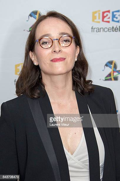 Presidente of France Television Delphine Ernotte attends the 'Rendezvous du 29' Photocall at France Television on June 29 2016 in Paris France