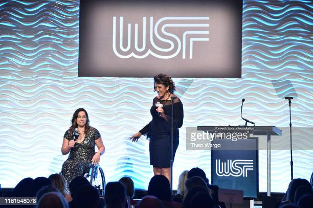 Presidentelect Alana Nichols and President Elana Meyers Taylor speak during The Women's Sports Foundation's 40th Annual Salute to Women in Sports...