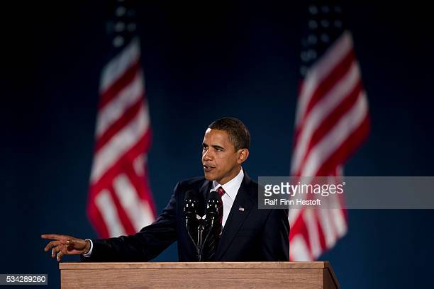 Presidentelect Barack Obama addresses supporters in Chicago's Grant Park after his election victory