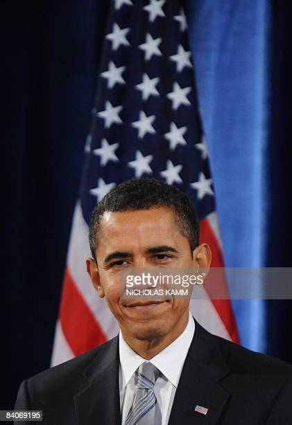US presidentelect Barack Obama gives a press conference to announce his pick as agriculture secretary Tom Vilsack and Ken Salazar as interior...