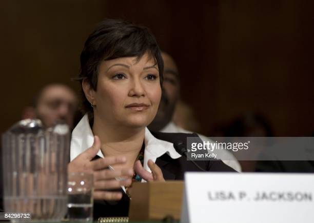 Presidentelect Barack Obama's choice for Secretary of the EPA Lisa P Jackson testifies before the Senate Environment and Public Works Committee