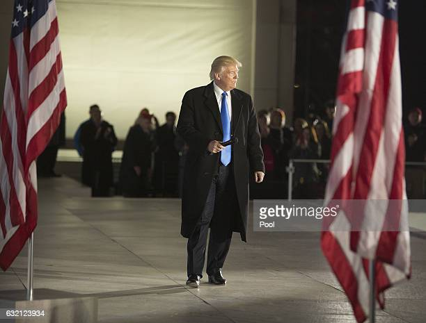 Presidentelect Donald J Trump speaks at the inaugural concert at the Lincoln Memorial in January 19 2017 in Washington DC Hundreds of thousands of...