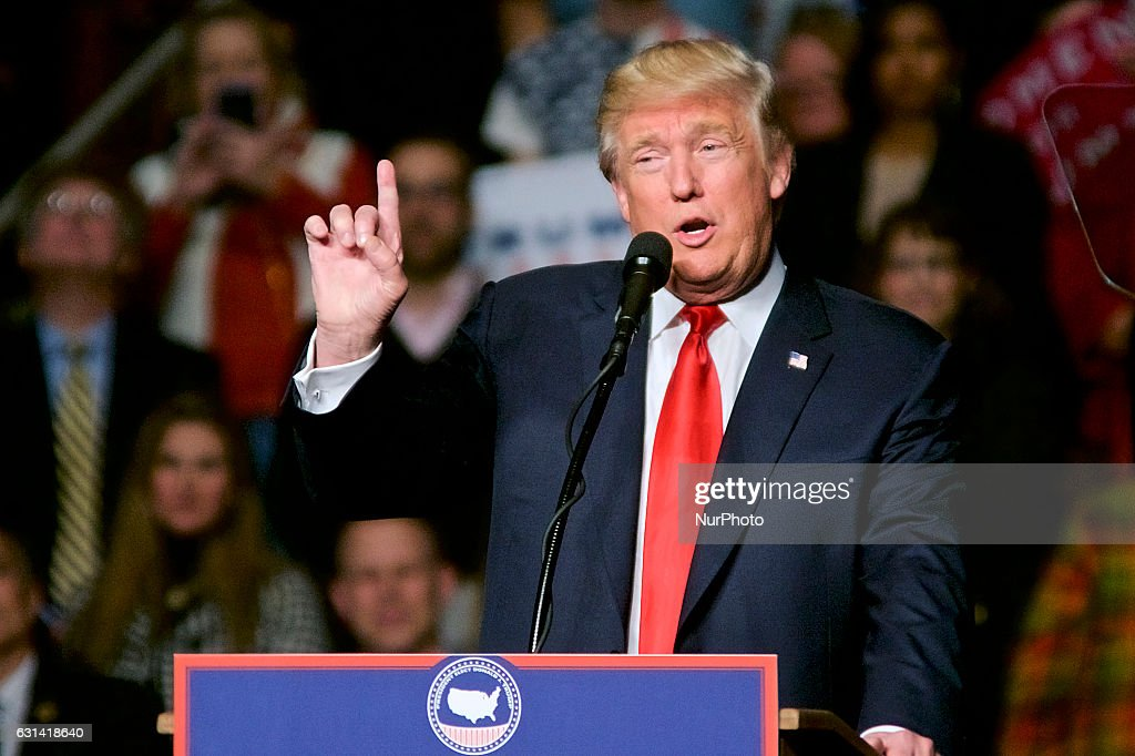 President-Elect Donald Trump - Thank You Tour event : News Photo