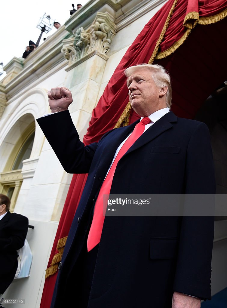 Donald Trump Is Sworn In As 45th President Of The United States : ニュース写真